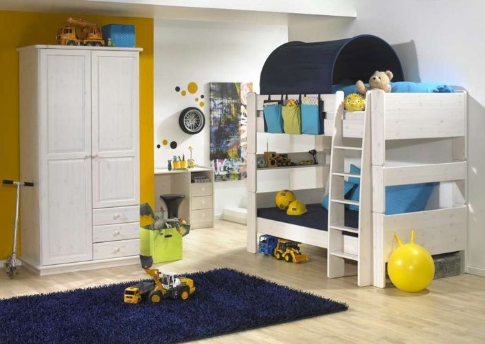 Piętrowe łóżko sosnowe dla dzieci