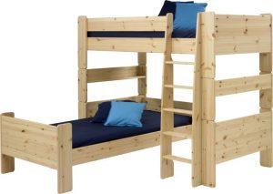 Sosnowe łóżko piętrowe dla dzieci
