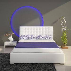 Białe łóżko tapicerowane ISABELLE 140cm – 140 cm