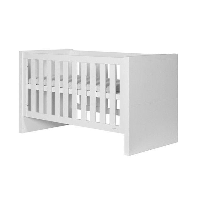 LARA białe łóżeczko dziecięce 140x70 cm