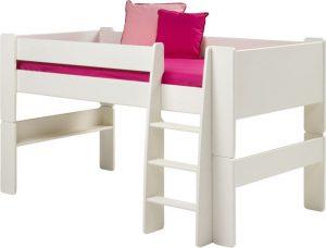 Łóżko piętrowe niskie Steens for kids – białe