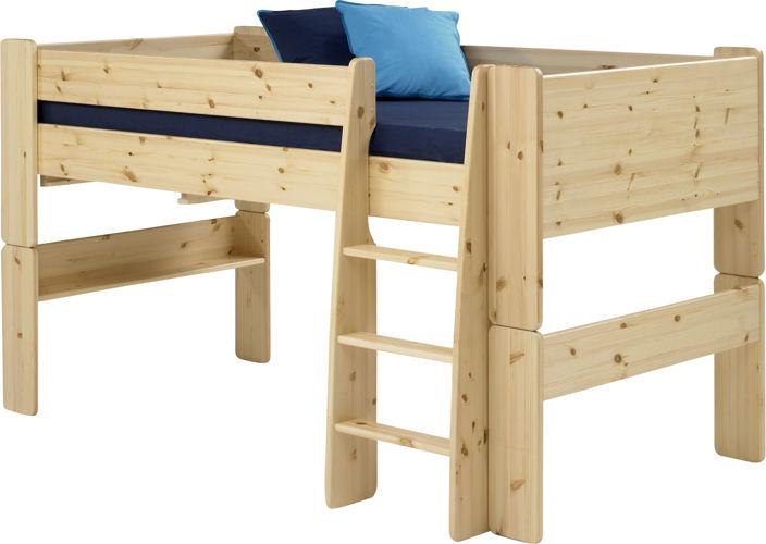 Sosnowe łóżko piętrowe dla dzieci i młodzieży