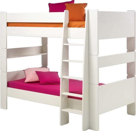 Łóżko piętrowe podwójne Steens for kids białe