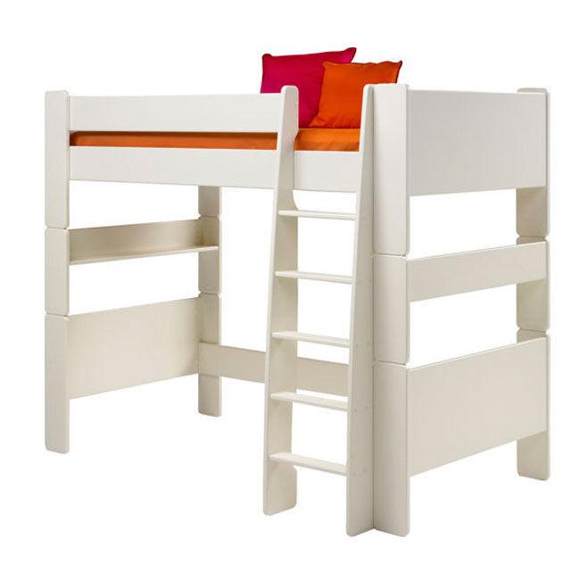Łóżko pojedyncze piętrowe Steens for kids białe