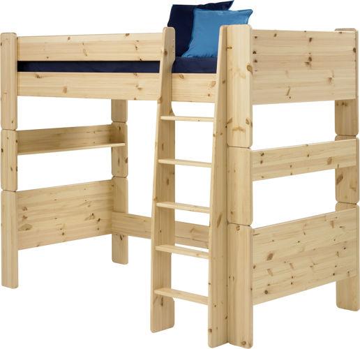 Sosnowe łóżko piętrowe pojedyncze