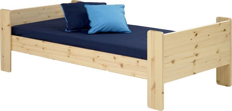 Sosnowe łóżko pojedyncze dla dzieci