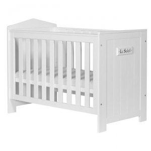 Białe drewniane łóżeczko dziecięce 120×60 MARSYLIA
