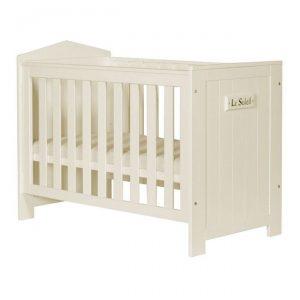 MARSYLIA łóżeczko dla dziecka 120×60 perłowe
