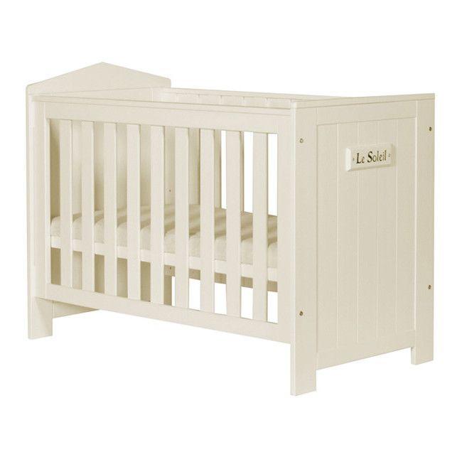 MARSYLIA łóżeczko dla dziecka 120x60 perłowe