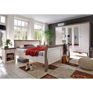 MONACO romantyczne łóżko sosnowe 180×200 cm