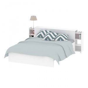 NAIA łóżko biały połysk 160×200 cm