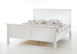 Romantyczne białe łóżko 180×200