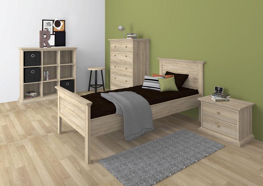 Romantyczne łóżko 90x200 dąb sonoma PARIS