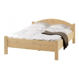 Łóżko sosnowe 140×200 cm podwójne