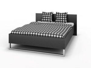 Łóżko podwójne 140×200 kolor czarny