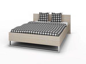 Łóżko do sypialni 140×200 cm dąb sonoma