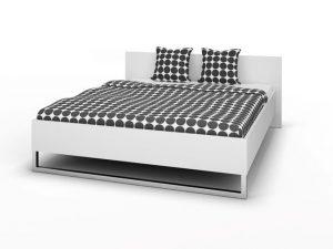 Łóżko do sypialni 160×200 cm białe