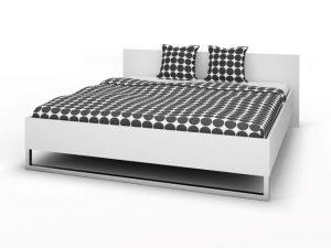 białe łóżko sypialniane 180×200 cm