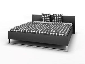 Duże łóżko do sypialni 180×200 cm czarne