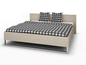 Łóżko do sypialni 180×200 cm dąb sonoma