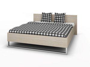 Łóżko sypialniane 160×200 cm dąb sonoma