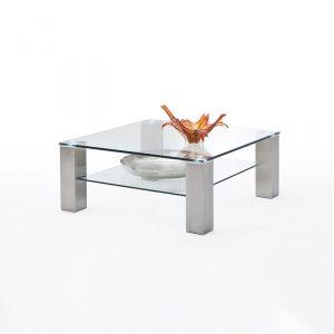 Szklany kwadratowy stolik Asti