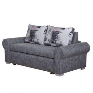 Sofa dwuosobowa szara 140 cm BALINA