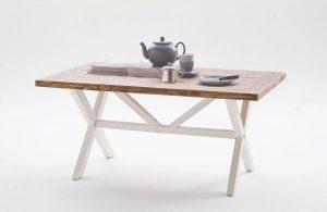 Duży stolik kawowy dąb sonoma biały 120×75 BARON