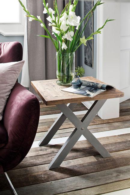Kwadratowy stolik kawowy 60x60 szary BARON
