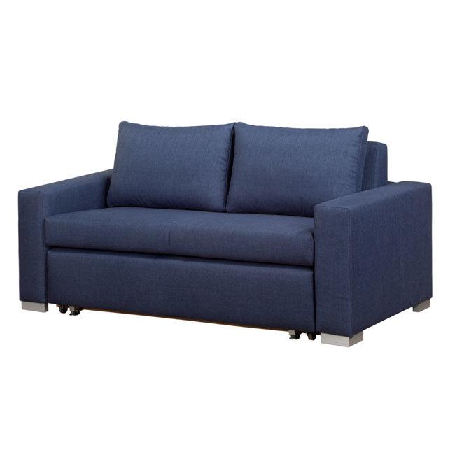 DERRY sofa dwuosobowa 140 cm - niebieski