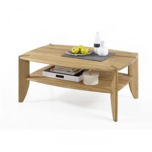 Stolik drewniany z półką Emma dębowy