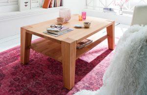 Duży drewniany stolik kawowy Hana 110×70 cm