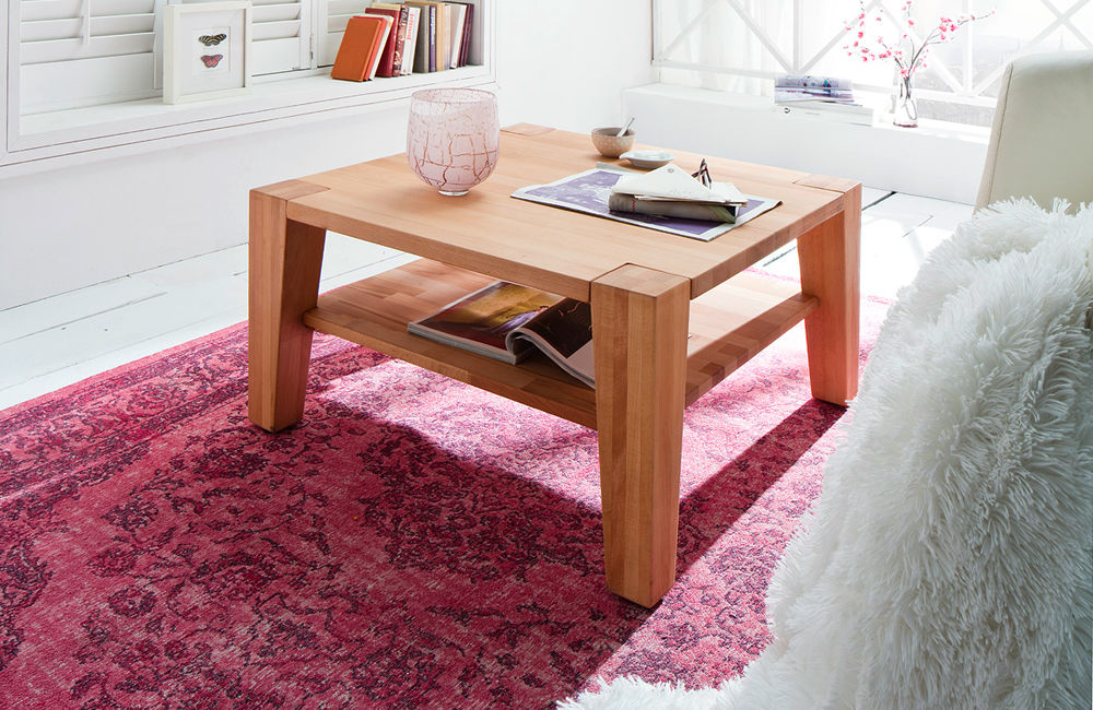 Hana dębowy stolik kawowy 80x80 cm