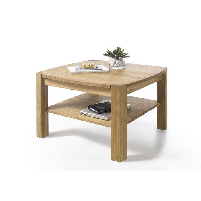 stolik drewniany kwadratowy Kayli dębowy