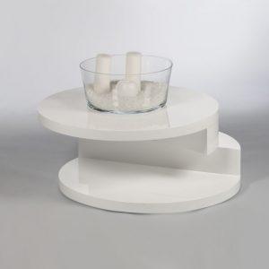 Stolik kawowy okrągły biały Motyl