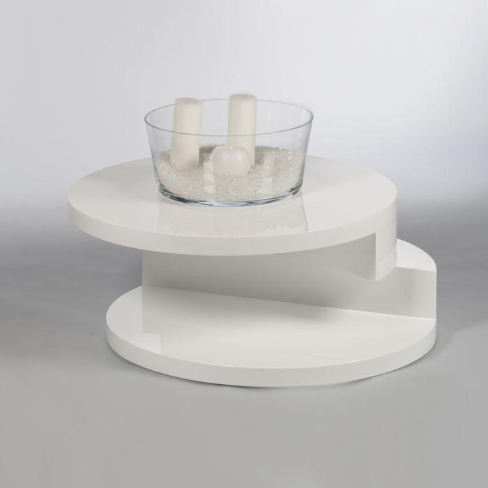Stolik Kawowy Okrągły Biały Motyl Dla Domu