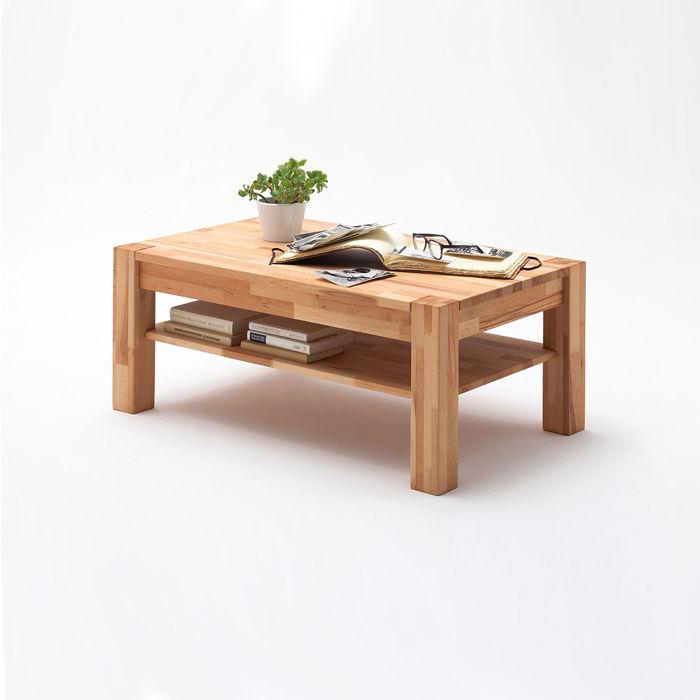 Ława drewniana z półką Piotr bukowa