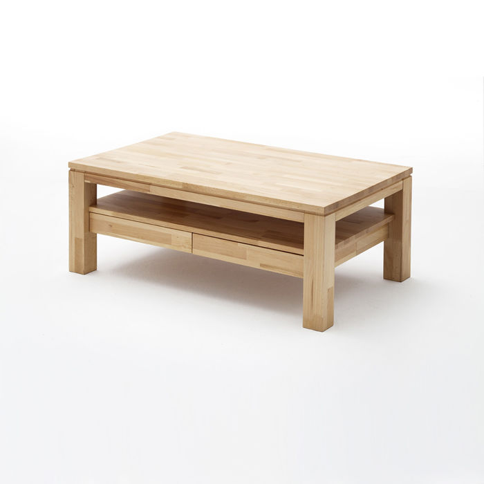 Ramzej bukowy stolik kawowy z dwoma szufladami