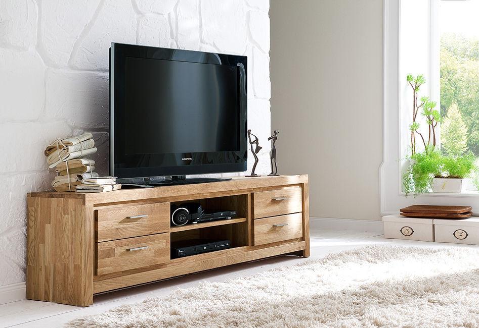 drewniana szafka pod telewizor SANTANA z wnęką 4S