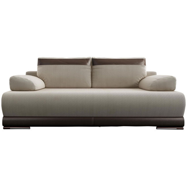 Sofa rozkładana Ontario beżowo brązowa