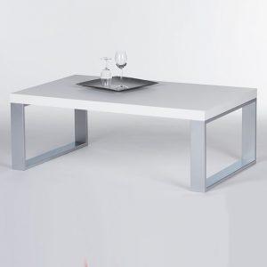 Steel prostokątny stolik kawowy