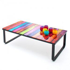 Kolorowy stolik kawowy