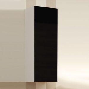 Witryna krótka szafka salonowa VIGO biało czarna