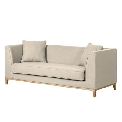 Klasyczna beżowa sofa trzyosobowa LILY