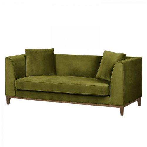 Oliwkowa sofa LILY klasyczna sofa trzyosobowa