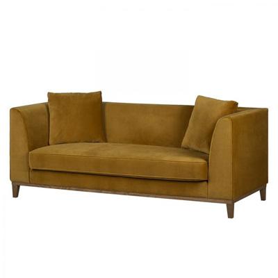 Żółta sofa LILY klasyczna sofa trzyosobowa