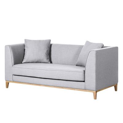 Szara sofa LILY klasyczna sofa dwuosobowa