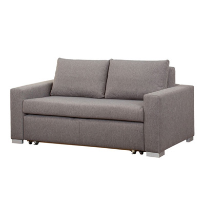 Szara rozkładana sofa DERRY 140 cm