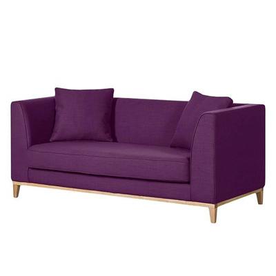 Fioletowa sofa LILY klasyczna sofa swuosobowa