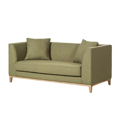 Zielona sofa LILY klasyczna sofa dwuosobowa